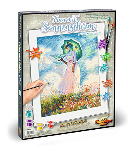 Schipper 609130759 - Malen nach Zahlen - Frau mit Sonnenschirm - Bilder malen für Erwachsene, inklusive Pinsel und Acrylfarben, 40 x 50 cm