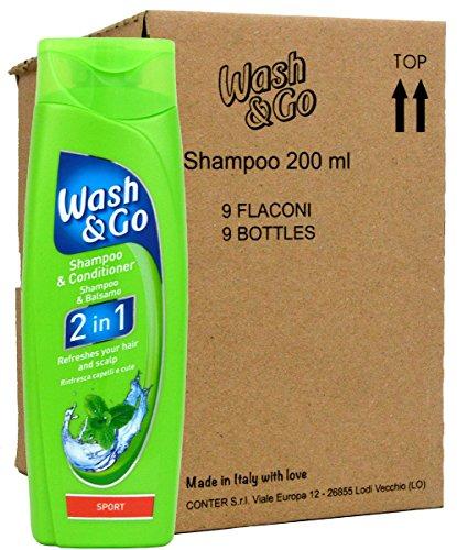 Wash & Go 2in1 Sport Shampoo & Conditioner - 9x