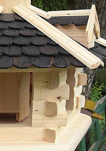 Vogelhaus-Gaube Groß (V31) Vogelhäuser Vogelfutterhaus Vogelhäuschen-aus Holz- - 4