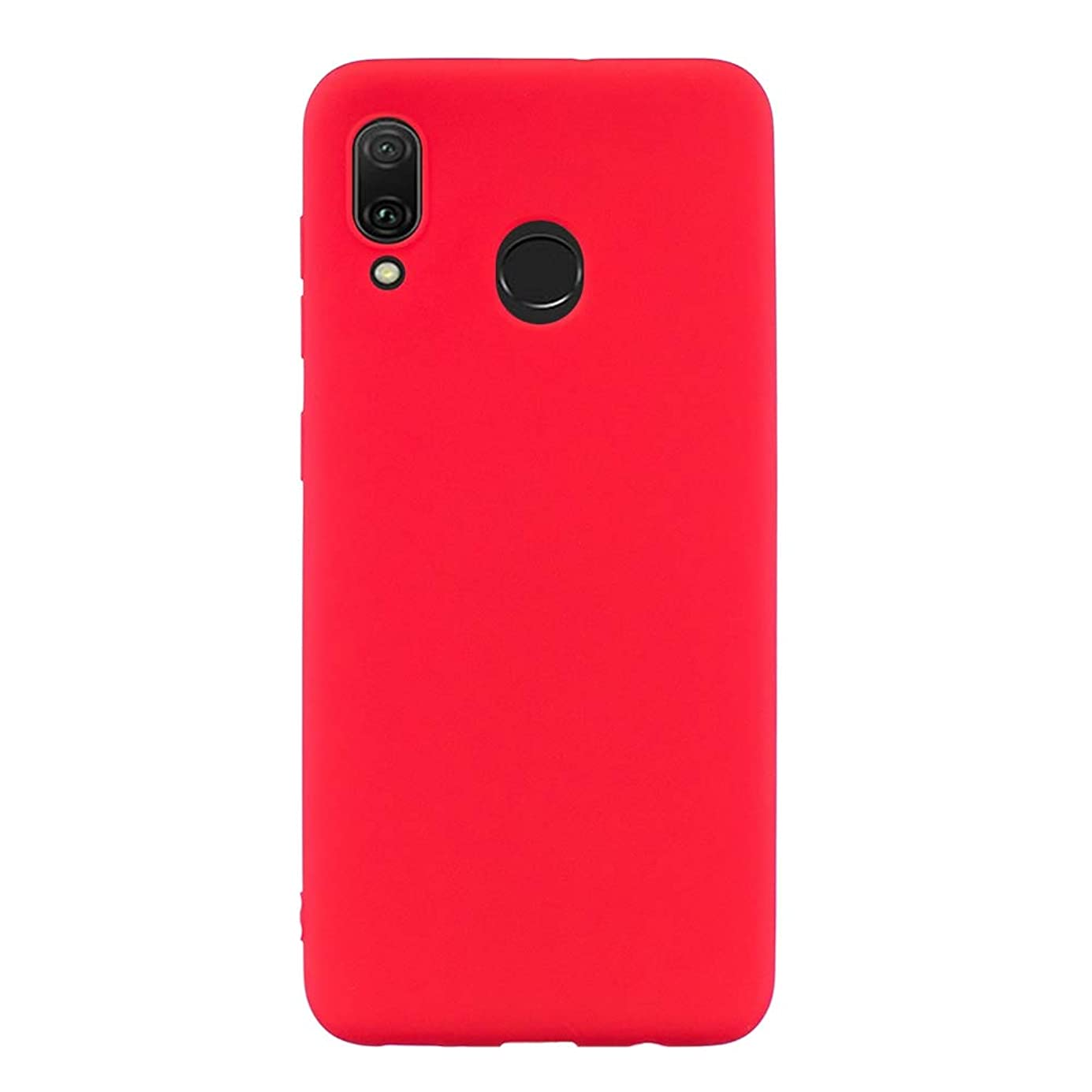 Huawei Y9 (2019) Case, SHUNDA Ultra Slim Soft TPU Silicone Matte Case Shockproof Bumper Protective Phone Cover for Huawei Y9 (2019) - Red dsriqr4785