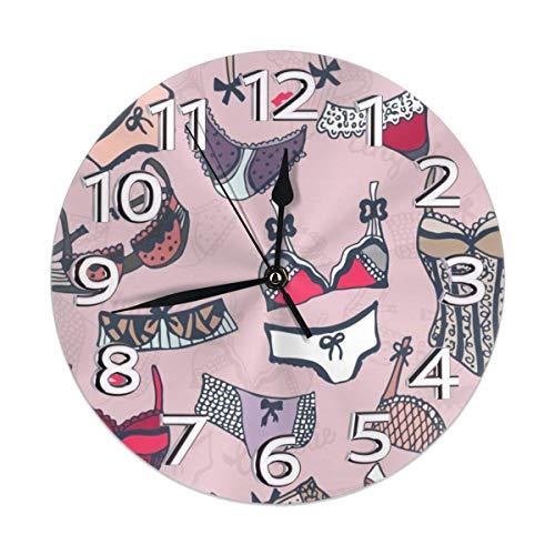 Xarchy Lencería de Mujer Dibujada a Mano Relojes de Pared R