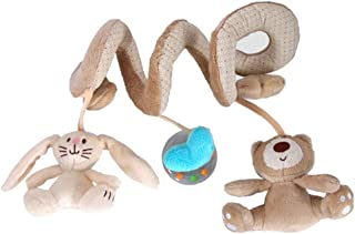 Infant Baby Kids Bear Rabbit Stroller and Bed Spiral Hanging Toys