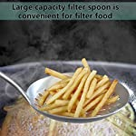 Skimmer Slotted Spoon, [Rustproof, Integral Forming, Durable] Newness 304 Stainless Steel Slotted Spoon with Vacuum… 8