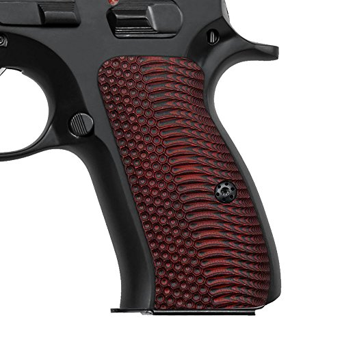 Cool Hand G10 Grips for CZ 75/85 Compact, CZ P-01, P100, C100, T100, PCR, CZ 75 D, Free Screws Included, OPS Texture, Cherry