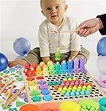 ZHANGMIN Wooden Go Games Set Dots Shuttle Beads Juegos De Mesa Juguete, Clasificador De Formas Y Juguete De Conteo, Juegos Educativos Montessori para Niños Pequeños para El Aprendizaje De Matemáticas