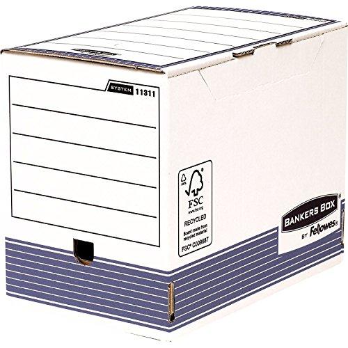 Bankers Box 1131102 Scatola Archivio A4+ System, Dorso 200 mm, FSC, Confezione da 10 Pezzi