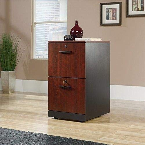 Sauder 419610 Via 2-Drawer Pedestal, Classic Cherry Finish