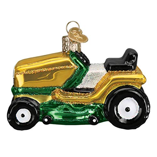Old World Christmas Riding Lawn Mower