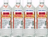 4 X Danncy Clear Pure Mexican Vanilla Extract From Mexico 33oz Each 4 Plastic Bottle Lot Sealed