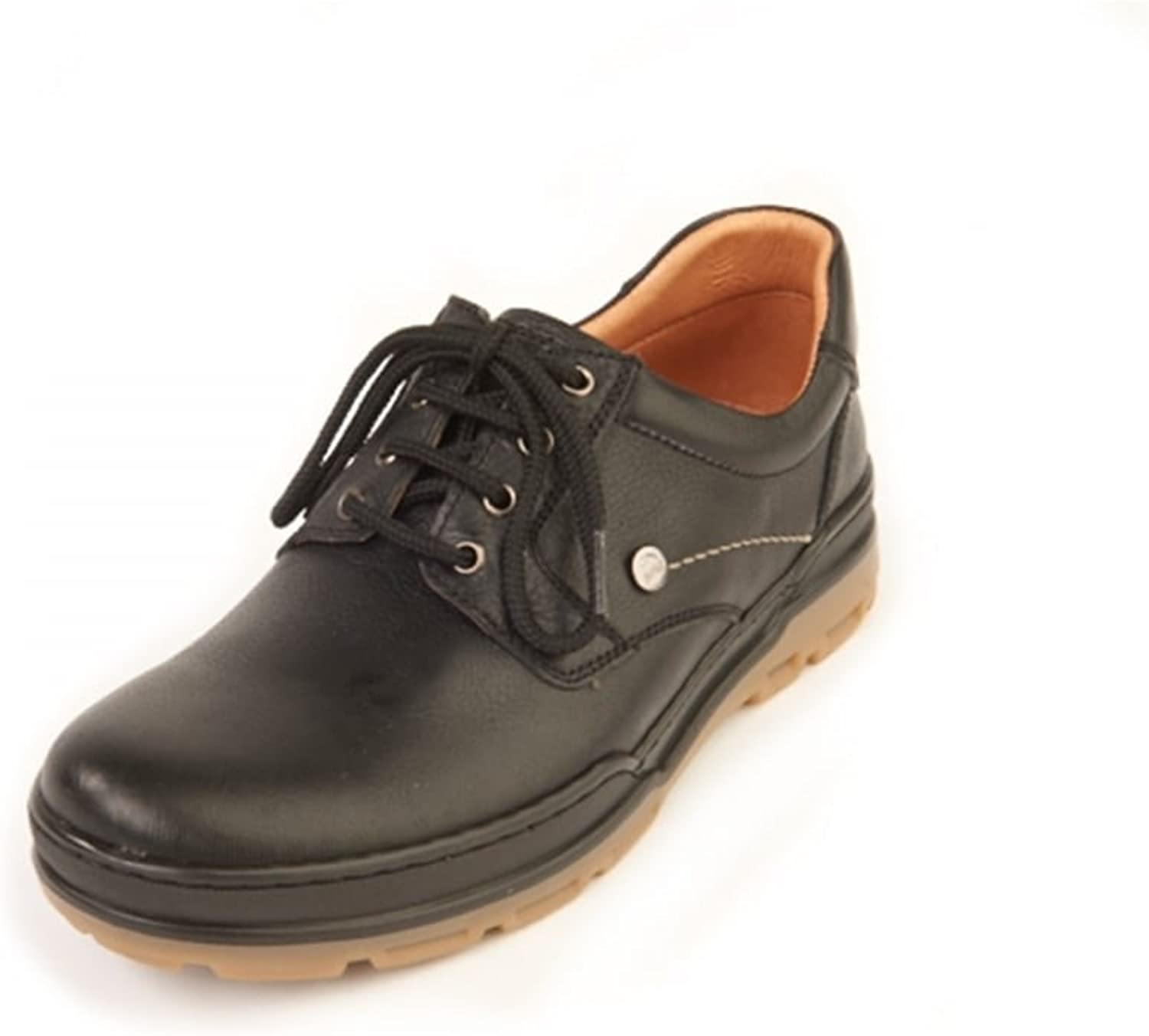 Softwalk Keith Black Casual, Comfort, Wide Fit