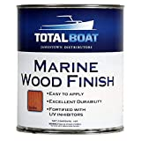 TotalBoat-382132 Marine Wood Finish - Ideal for Boats, Home and Outdoor Teak Furniture (Satin, Quart)