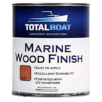 TotalBoat Marine Wood Finish - Ideal for Boats Home and Outdoor Teak Furniture  Satin Quart