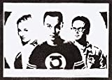 Poster The Big Bang Theory Sheldon Penny y Leonard Grafiti Hecho a Mano - Handmade Street Art - Artwork