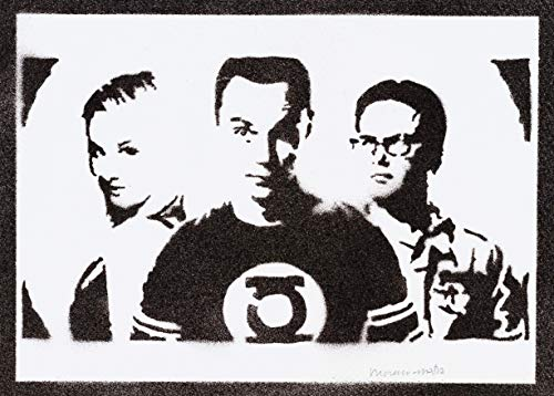 The Big Bang Theory Poster Sheldon Penny und Leonard Plakat Handmade Graffiti Street Art - Artwork