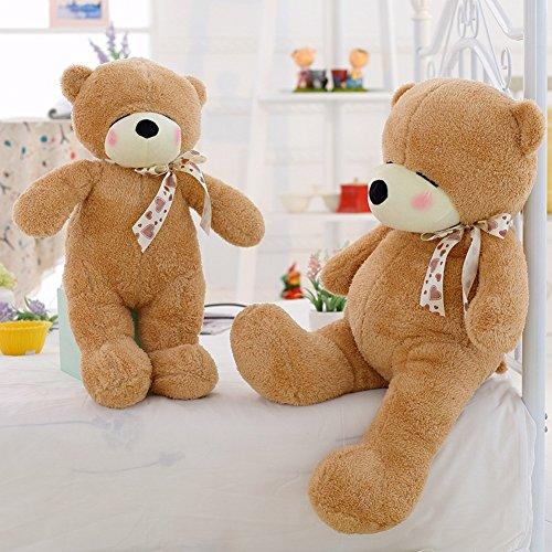 VERCART Grand Nounours Ours en Peluche XXL Teddy Bear Jouet Oursons Douce Cadeaux pour Bébé Enfant Ado Fille Garçon Marron 80cm