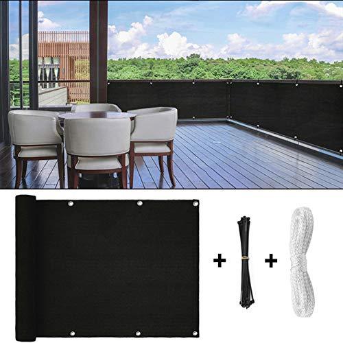Voiles d'ombrage Feifei Balcon Clôture de l'écran de confidentialité for extérieur Backyard Patio Balcon Cover Sun-Proof UV Ombre résistant aux intempéries (Color : Black, Size : 0.9×10m)