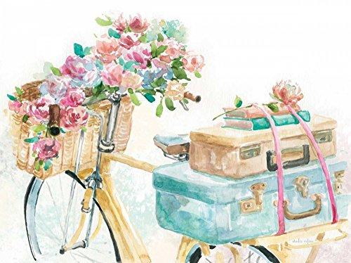 Feeling at home ESTRILLADO-LIENZADO-My-Pretty-Bicycle-Studio-Rofino-Floral-Fine-Art-impresión-enmarcado-on-madera-bars-cm_19x26_in