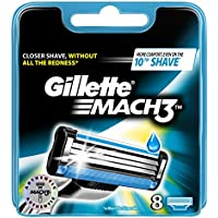 Gillette Mach 3 - Cuchillas de recambio para maquinilla de afeitar (8 unidades)