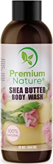 Shea Butter Moisturizing Body Wash - Made With Natural African Raw Shea Butter & Macadamia Ternifolia Seed Oil Rich in Vit...