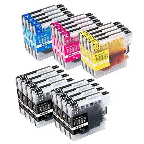 B-T Compatible Cartuchos de Tinta Reemplazo para Brother LC980 LC1100 para Brother DCP 195C 145C 165C 185C 6690CW 375CW MFC 250C 5890CN 490CW 5895CW 6490CW 255CW 490CW 6890CDW 290C(20 Pack)