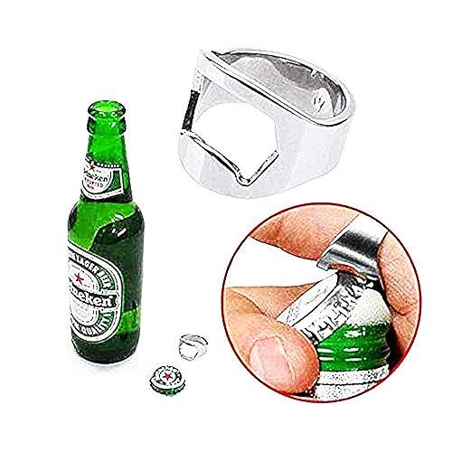 Inception Pro Infinite - Flaschenöffner mit Ring - Korkenzieher - originelle Geschenkidee - Durchmesser 22 mm - originelle originelle Geschenkidee - Getränke - Silberne Farbe
