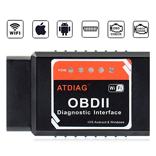 ATDIAG Car WiFi OBD2 Scanner, Wireless OBDII Vehicles Code Reader Scan...