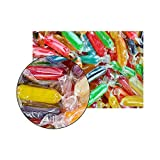 FirstChoiceCandy Assorted Rods Hard Candy Mix Fruit Flavor Cherry, Apple, Butterscotch, Peppermint, Tangerine, Strawberry, Pineapple, Licorice and Lemon 2 Lb