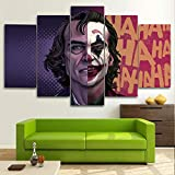 KOPASD 5 Piezas Pintura De Pared Sala De Estar De Arte JOK Movie Two Face Comic Superhéroe HD Print ...
