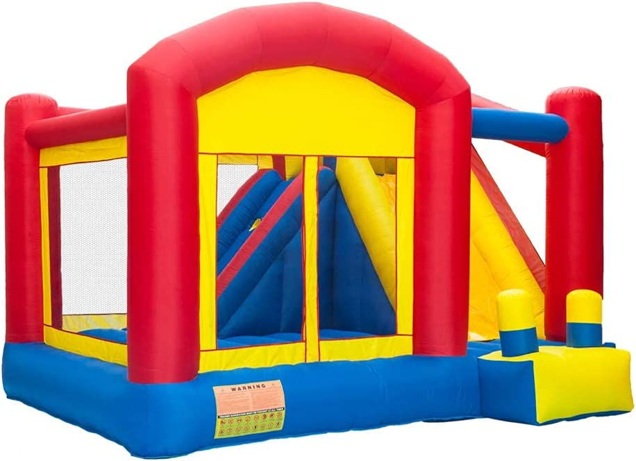 FGKLU Inflatable Max 79% OFF Bounce House Moonwa Jumping Slide Max 42% OFF Castle