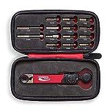 Feedback Sports Range - Llave dinamométrica con juego de puntas unisex y adulto, color rojo, plateado y negro