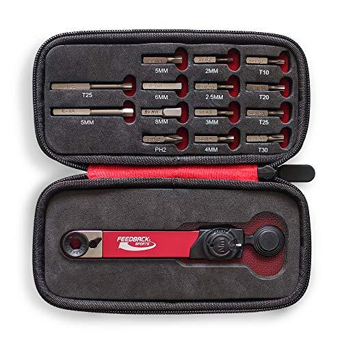 Feedback Sports Range Drehmomentschlüssel mit Bitsatz, Unisex, Erwachsene, Rot/Silber/Schwarz, Uni