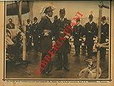 """La crociata navale nord-americana nelle acque spagnuole: Re Alfonso XIII a bordo dell'incrociatore degli S.U. """"Memphis"""" a Santander."""