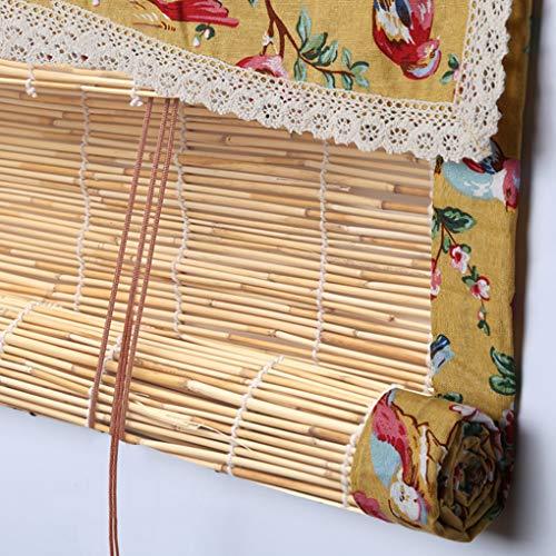 TCYLZ Bamboe Rolgordijnen, Natuurlijke Riet Blinds, tillen Decoratieve Rolluiken, Outdoor Indoor Meubilair Decoratie, Zonnecrème Waterdicht en Ademend, Prachtige Edging, Aanpasbaar