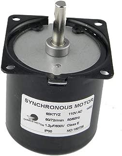 CHANCS 60KTYZ AC Synchronous Syn Motor 110V 60/72RPM CW/CCW 14W Low Noise Electric Motor