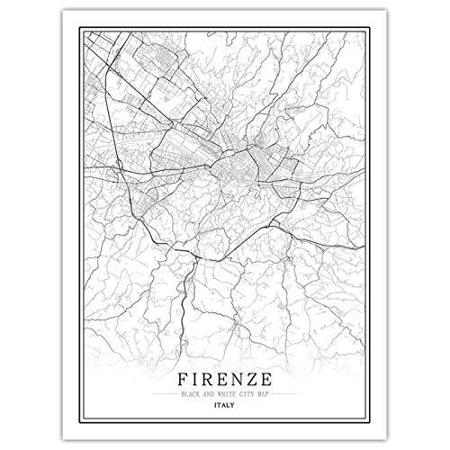 Puzzle Puzzle 1000 Pezzi per Adulti Italia Firenze City Map Grande Legno FAI Da Te Puzzle Di Legno Educativo Sfida Matando Tiempo Regalo Giochi Divertenti per I Bambini