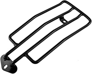Motorcycle Solo Seat Rear Luggage Rack, Keenso Rear Fender Rack Plated Luggage Support Shelf for Solo Seat(Black)