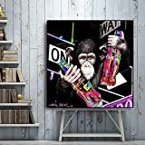 N / A Pintura sin Marco Lienzo Impreso decoración del hogar póster decoración de Pared de Dibujos Animados Arte modernoZGQ6663 70X70cm