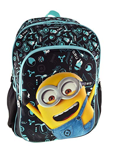 Graffiti Despicable Me Mochila escolar  44 cm  Negro  Black