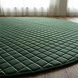 サヤンサヤン 円形 丸型 洗える もこもこ 高級 キルトラグ ルオント 直径190 ガーデン 厚手