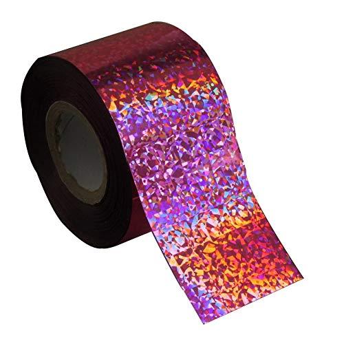 D'Ongle Autocollants Transfert Feuille de transfert en plastique holographique à ongles 120m * 4 cm Nail Art Stickers Autocollants Wraps Glitter Multi Couleur En Gros Au Détail