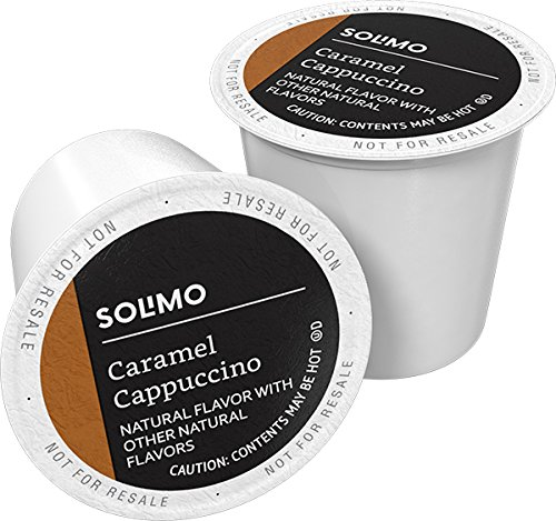 Solimo Cappuccino Single Serve Cups, Caramel, 24ct