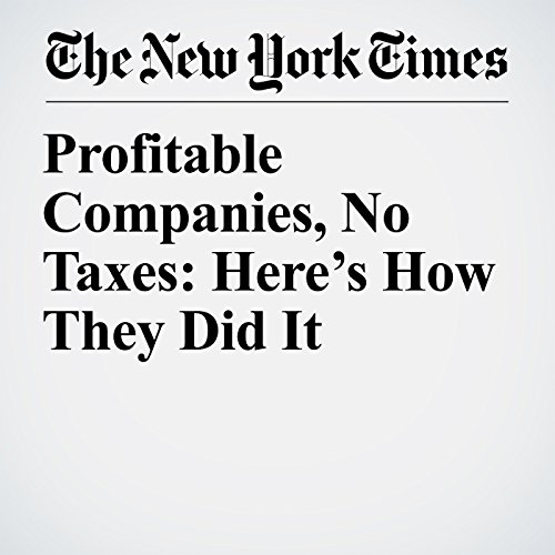 Profitable Companies, No Taxes: Here's How They Did It copertina