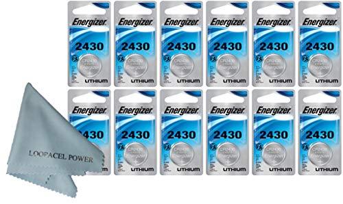 Energizer CR2430 CR 2430 DL2430 Lithium 3V 12 Batteries