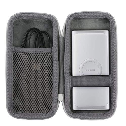 co2CREA Hart Reise Schutz Hülle Etui Tasche für Samsung Ladegerät mit 10000mAh /Samsung Mobile Accessories Induktive Powerbank (Weiß)