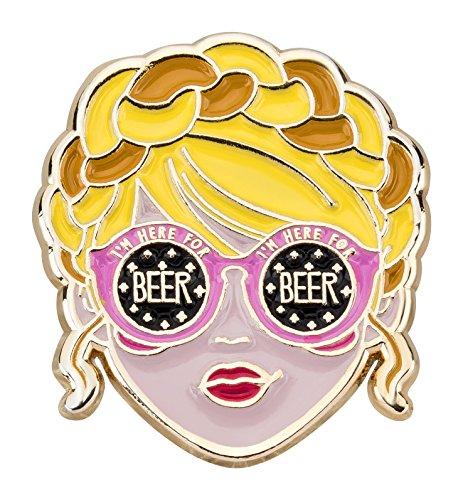 likalla (Oktoberfest pin I 'm here for cerveza, chapado en oro, esmalte suave
