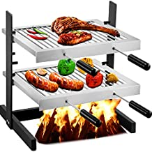 VEVOR Tuscan Fireplace Grill, Stainless Steel Santa Maria Grill, 17.7