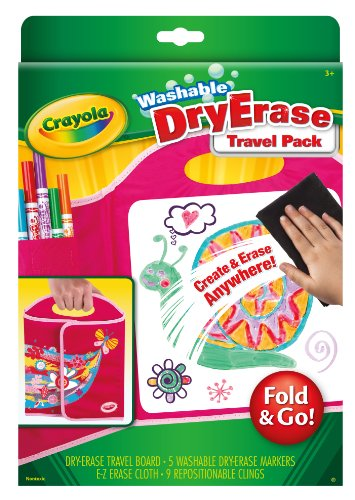 Crayola Dry Erase Board Travel Pack, 16 Pieces, Gift for Kids and Toddlers, Ages 3, 4, 5, 6, Multi/None, One Size (98-8662)