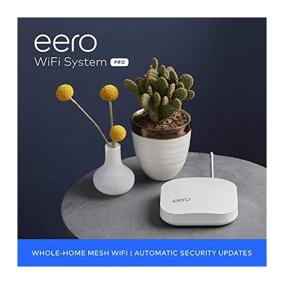 Amazon eero Pro mesh WiFi system (1 Pro + 2 Beacons) 22 Whole-home WiFi system - The Amazon eero Pro mesh WiFi system (3 eero Pros) replaces the traditional WiFi router, WiFi extender, and internet booster by covering a 5+ bedroom home with fast and reliable internet powered by a mesh network. eero 2nd generation - With the most intelligent mesh WiFi technology and powerful hardware, the eero 2nd generation WiFi system is 2x as fast as the original eero WiFi. Backwards compatible with 1st generation eero products. Cutting edge home WiFi - Unlike the common internet routers and wireless access points, eero automatically updates once a month, always keeping your home WiFi system on the cutting edge.