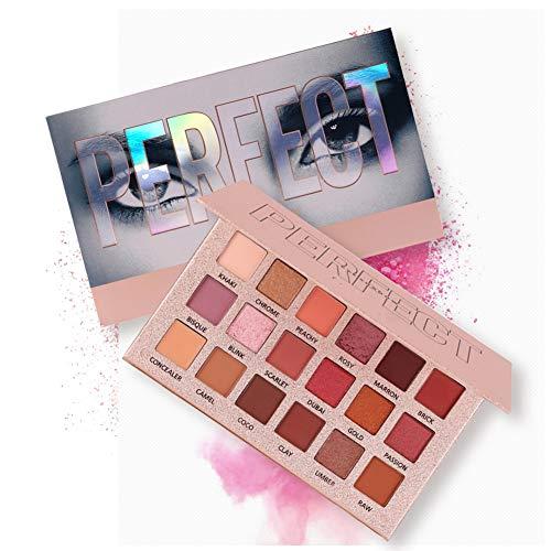 Eyeshadow Palette Paillettes métalliques de maquillage, ROMANTIC BEAR fard à paupières professionnel pigmenté 18 couleurs nue (A)
