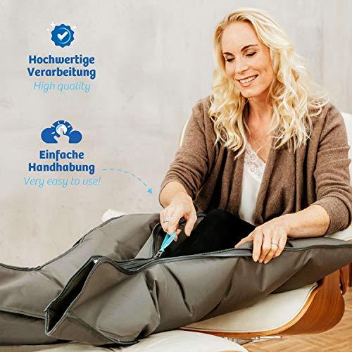 Vein Angel ® 4 appareil de massage par glissement avec bottes, 4 coussins d'air, durée & pression réglables facilement